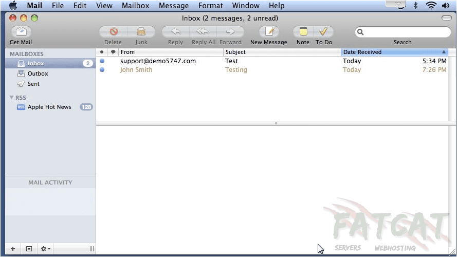 Open Mail Screenshot